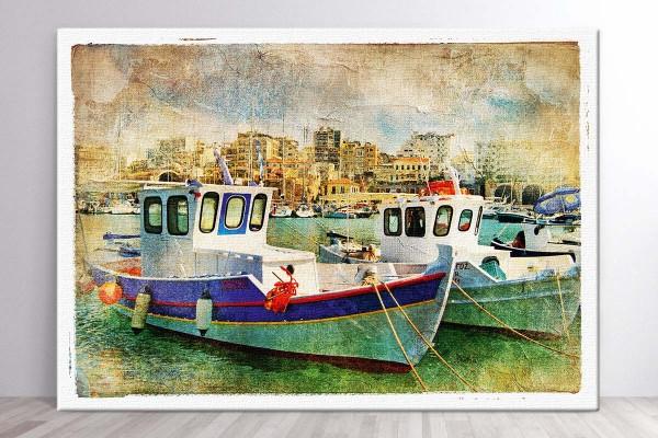 Πίνακας καμβάς ΜΙΚΡΟ ΛΙΜΑΝΙ I