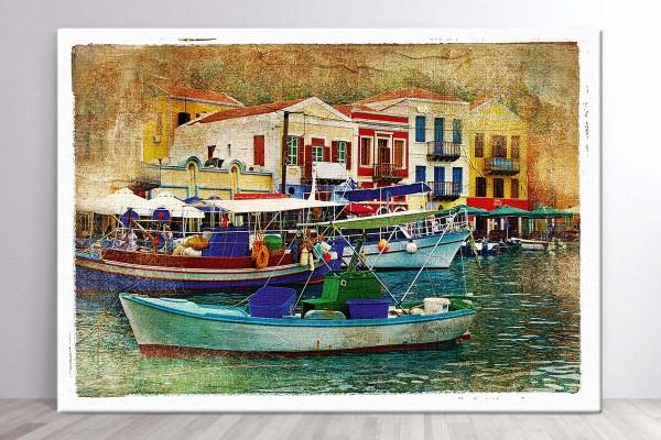 Πίνακας καμβάς ΜΙΚΡΟ ΛΙΜΑΝΙ II