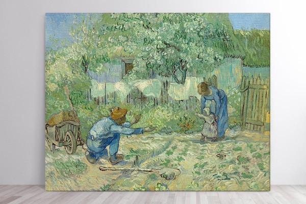 Πίνακας καμβάς FIRST STEPS, AFTER MILLET - VAN GOGH