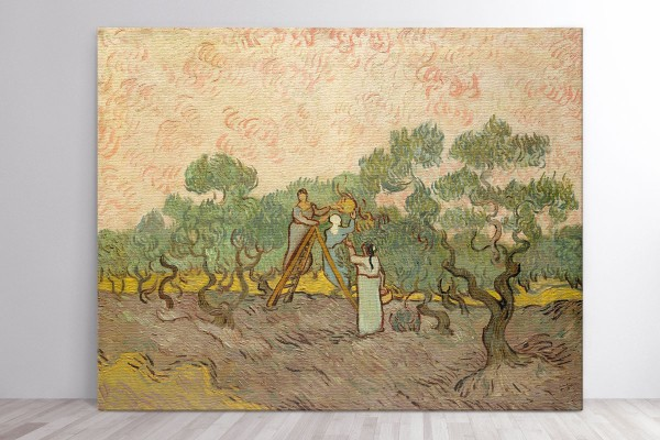 Πίνακας καμβάς WOMEN PICKING OLIVES - VAN GOGH