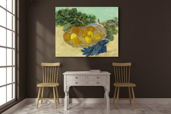 Πίνακας καμβάς ORANGES AND LEMONS WITH BLUE GLOVES - VAN GOGH