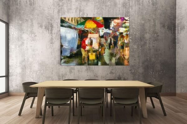 Πίνακας καμβάς ΚΑΡΟΤΣΑΚΙΑ ΦΑΓΗΤΟΥ ΣΤΗΝ ΜΠΑΝΓΚΟΚ