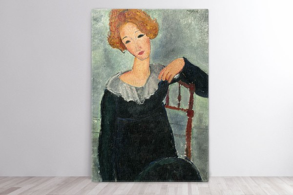 Πίνακας καμβάς WOMAN WITH RED HAIR - MODIGLIANI