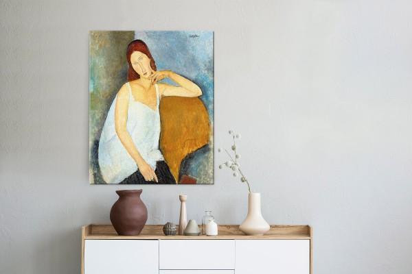Πίνακας καμβάς JEANNE HEBUTERNE - MODIGLIANI