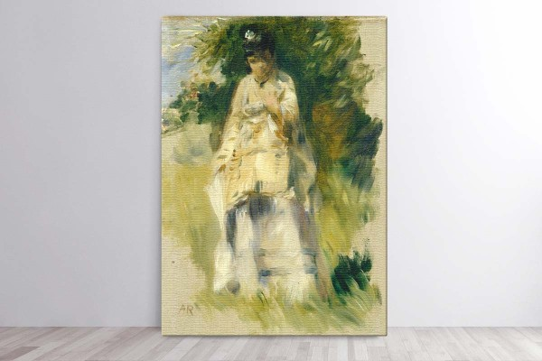 WOMAN STANDING BY A TREE - AUGUSTE RENOIR