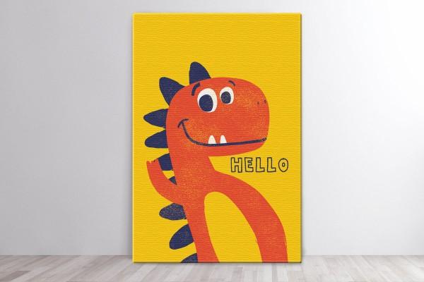 Πίνακας καμβάς HELLO DINO