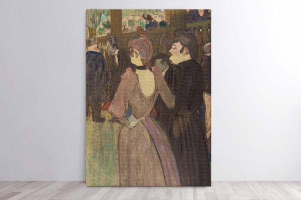 LA GOULUE AND HER SISTER - TOULOUSE LAUTREC