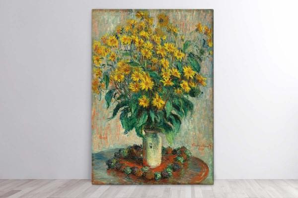 JERUSALEM ARTICHOKE FLOWERS, 1880 - CLAUDE MONET