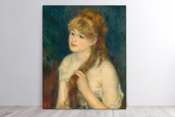 YOUNG WOMAN BRAIDING HER HAIR, 1876 - RENOIR