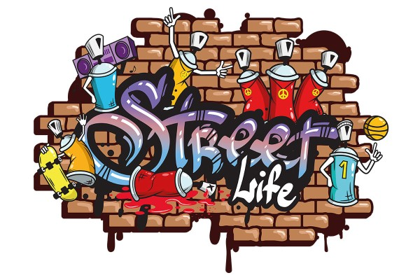 Αυτοκόλλητο τοίχου STREET LIFE