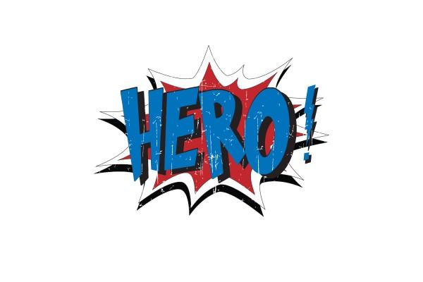 Αυτοκόλλητο τοίχου HERO