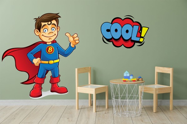 Αυτοκόλλητο τοίχου SUPER BOY