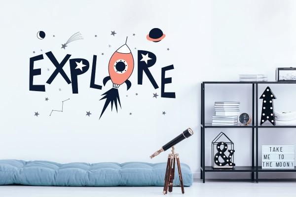 Αυτοκόλλητο τοίχου EXPLORE