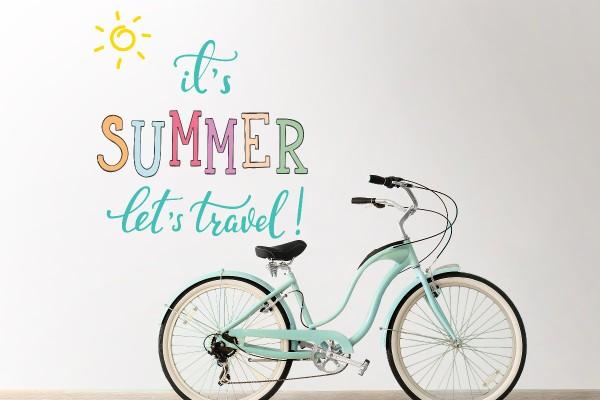 Αυτοκόλλητο τοίχου IT'S SUMMER LET'S TRAVEL