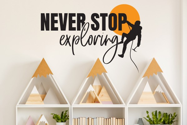 Αυτοκόλλητο τοίχου NEVER STOP EXPLORING