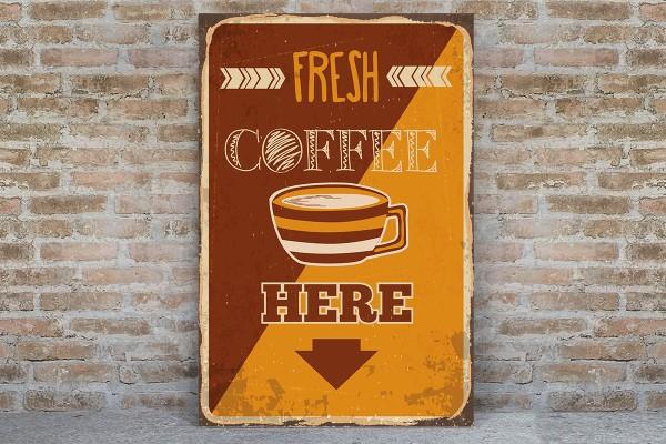 FRESH COFFEE HERE