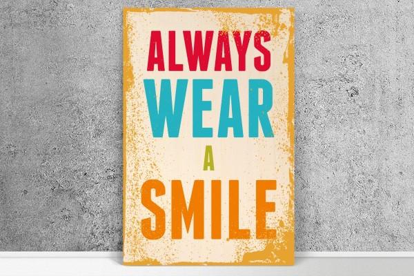 Ξύλινο πόστερ ALWAYS WEAR A SMILE