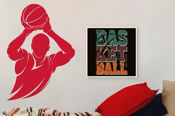 Ξύλινο πόστερ BASKETBALL